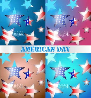 USA independence day illustration stock vector