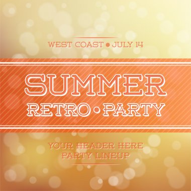 Vintage summer party poster stock vector