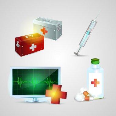 Medicine icons set vector illustration stock vector