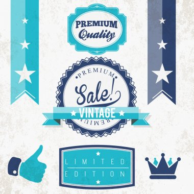 Quality vintage vector signs stock vector