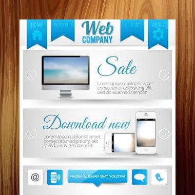 Website Templates vector illustration stock vector
