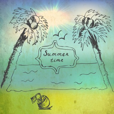 Summer time image vector illustration stock vector