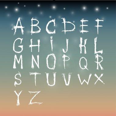 Alphabet vector set  illustration stock vector