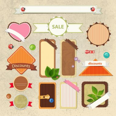 Vintage sale signs vector illustration stock vector