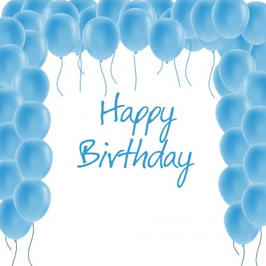 Happy birthday greeting card stock vector