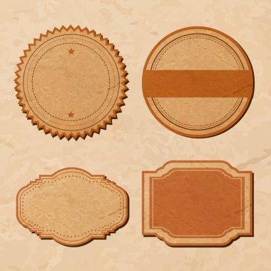 Vector set: vintage labels stock vector