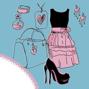 Fashion illustration vector illustration stock vector