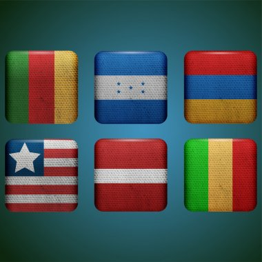 Vector flags set vector illustration stock vector