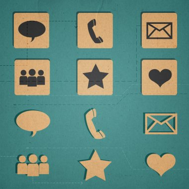 Communication icons set vector illustration stock vector
