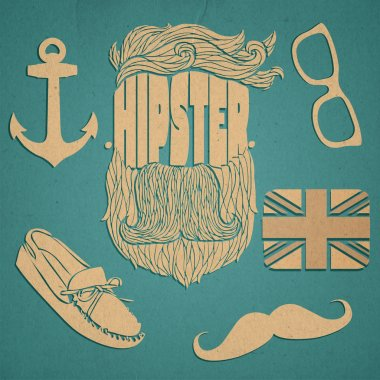 Hipster icon set vector illustration stock vector