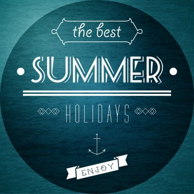Summer Holidays picture vector illustration stock vector