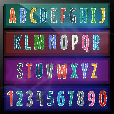Artistic alphabet set vector illustration stock vector