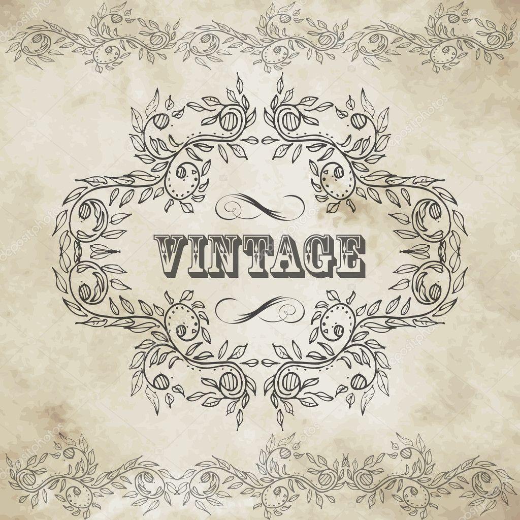 Vintage design elements set stock vector