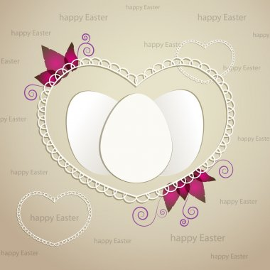 Easter greeting frame with eggs. stock vector