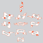 Bänder Skizze Set Vektor Illustration