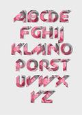 Vektor-Illustration zum rosa Alphabet