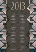 Vintage calendar vector illustration