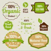 Vintage organic food signs