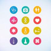 Medicína ikony nastavit vektorové ilustrace