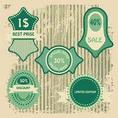 Prodej značky banner vektorové ilustrace