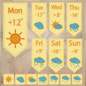 Weather forecast icons  banner vector illustration