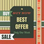 Eladó, legjobb ajánlat, nyári eladási, magas minőséget igazoló címkék és jelek
