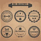 Legyen egészséges! Vintage Címkék