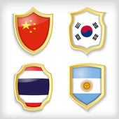 flags signs vector illustration