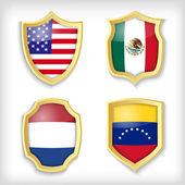 flags  banner vector illustration