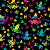 Multi-barevné žáby pozadí