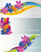 Květiny Banner vektorové ilustrace