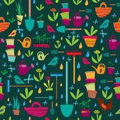 zahradní banner vektorové ilustrace
