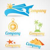 Sammlung von Vektorlogos für touristische Reiseunternehmen