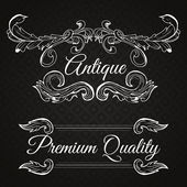 Premium quality. Retro vector frame