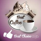 Kávé fagylaltot háttér