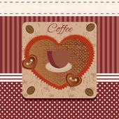 vektorové káva grunge s šálkem