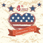 Vector independence day poster. Retro vintage version