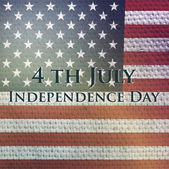 Vector independence day background. Retro vintage version