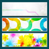 Vector set of web banners