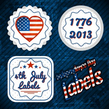 USA independence day labels stock vector