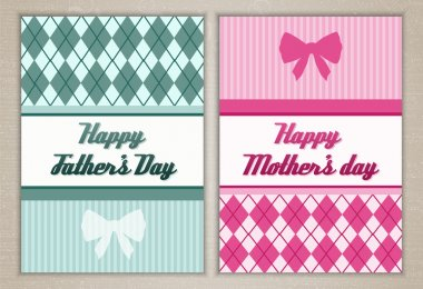 Happy mother's and father's day cards stock vector