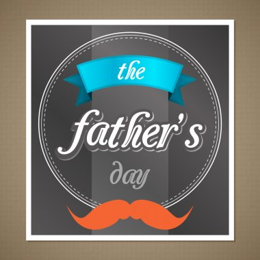 Happy father's day picture stock vector