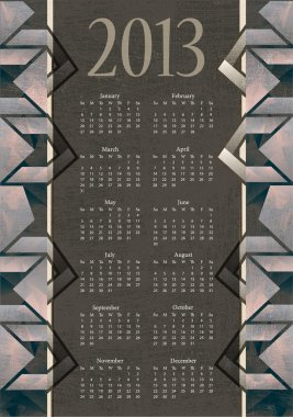 Vintage calendar vector illustration stock vector