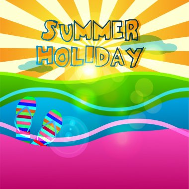 Summer holiday signs set stock vector