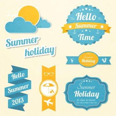 Summer holiday signs set stock vector