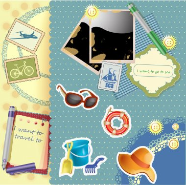 Vacation background  banner vector illustration stock vector