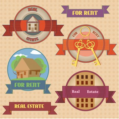 For rent signs  banner vector illustration stock vector