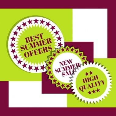 Summer sale signs  banner vector illustration stock vector