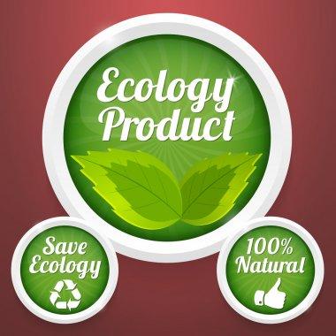Ecology  banner vector illustration stock vector