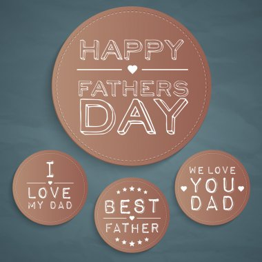 Happy father's day labels stock vector